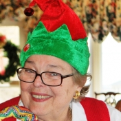 Dot Kirkpatrick brings a touch of Christmas to the annual EKURA Christmas Party