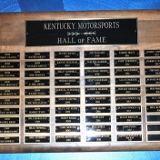 Kentucky Motorsports Hall of Fame Plaque