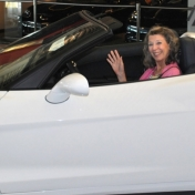 Ruth Wolfe tries out the 427 convertible corvette