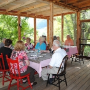 Lunch on the screened-in porch at Snug Hollow