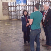 EKURA members tour the brewery
