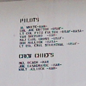 names of some pilots and crew chiefs