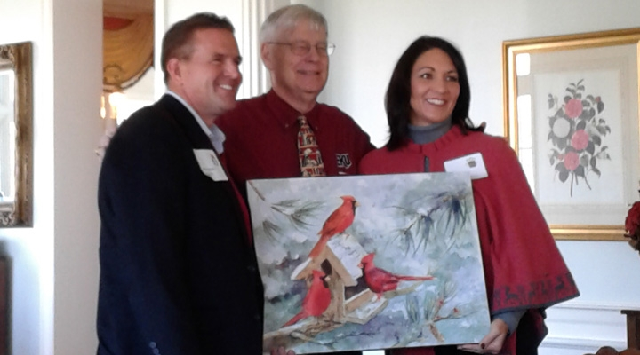Painting presented to the President & Mrs. Benson at the 2016 Christmas Luncheon